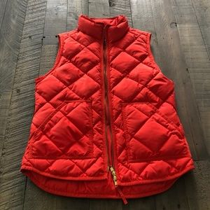 JCrew Quilted Puffer Vest, Bright Red